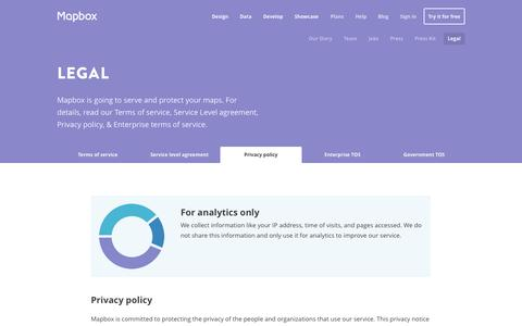 Screenshot of Privacy Page mapbox.com - Privacy policy | Mapbox - captured Sept. 12, 2014
