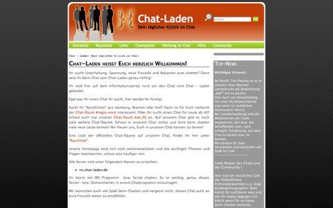 Screenshot of Home Page chat-laden.de - Chat - Laden! Dein täglicher K(l)ick im Chat! - captured June 11, 2016