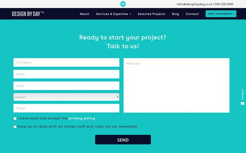 Screenshot of Contact Page designbyday.co.uk - Contact - Design By Day - captured March 1, 2018