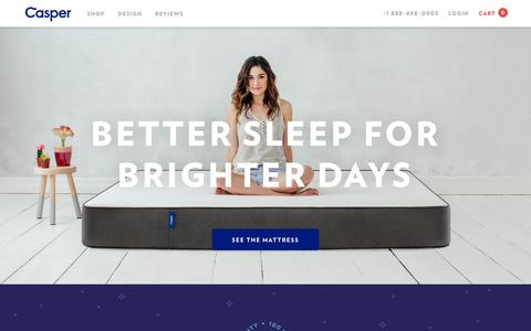 Screenshot of Home Page caspersleep.com - Casper | Sleep Reimagined - captured July 3, 2015