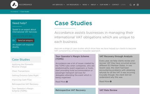 Screenshot of Case Studies Page accordancevat.com - Case Studies   Accordance - captured Oct. 7, 2017