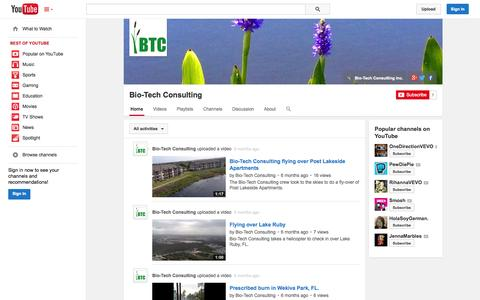 Screenshot of YouTube Page youtube.com - Bio-Tech Consulting  - YouTube - captured Oct. 23, 2014