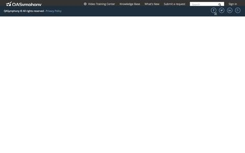 Screenshot of Support Page qasymphony.com - 4.1 Add a work item – QAS Support Center - captured May 19, 2017