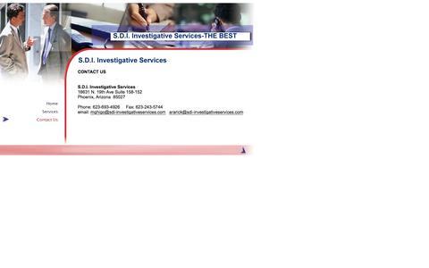 Screenshot of Contact Page sdi-investigativeservices.com - Welcome to SDI Investigative Services - captured Feb. 2, 2016