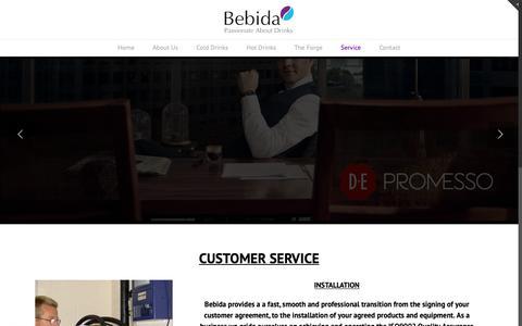 Screenshot of Services Page bebidasolutions.co.uk - Service - Bebida Solutions - captured Oct. 5, 2018