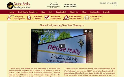 Screenshot of About Page neuserealty.com - About Us - captured Oct. 20, 2017