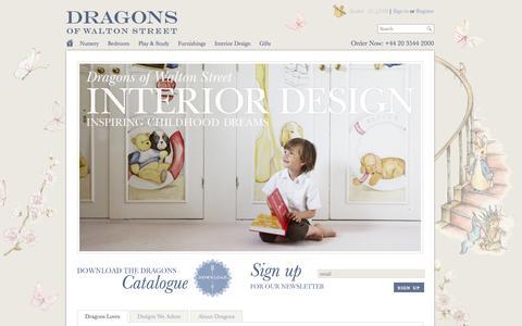 Screenshot of Home Page dragonsofwaltonstreet.com - Luxury Children's Furniture & Interiors | Dragons of Walton Street - captured Sept. 30, 2014