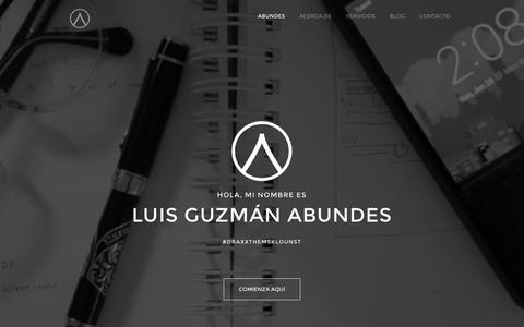 Screenshot of Home Page abundes.com - Especialista en Marketing  Online | Luis Guzm�n Abundes - captured Dec. 23, 2015
