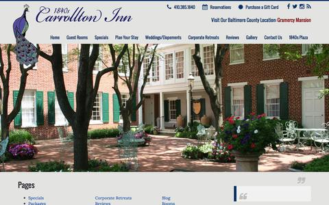 Screenshot of Site Map Page 1840scarrolltoninn.com - Sitemap | 1840's Carrollton Inn - captured Jan. 10, 2016