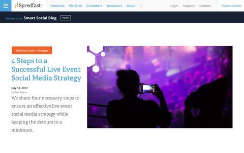 Screenshot of Blog spredfast.com - Social Marketing Blog   Social Media Blog   Spredfast - captured July 15, 2017