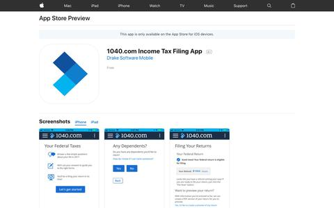 1040.com Income Tax Filing App on the AppStore