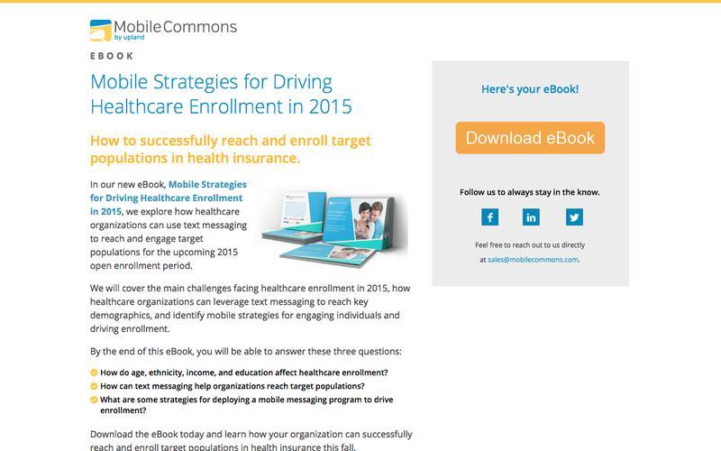 Mobile Strategies for Driving Healthcare Enrollment - Mobile Commons