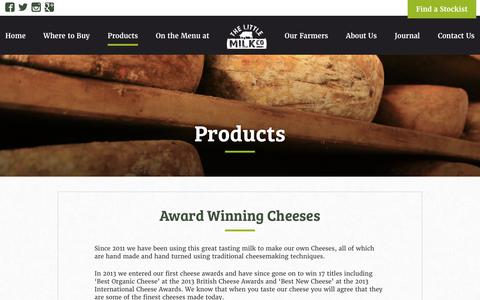 Screenshot of Products Page thelittlemilkcompany.ie - Little Milk Company - captured Nov. 10, 2017