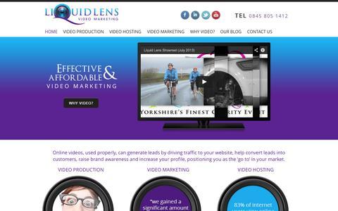 Screenshot of Home Page liquidlens.org - Video Marketing Expert l Online Video - captured Sept. 30, 2014