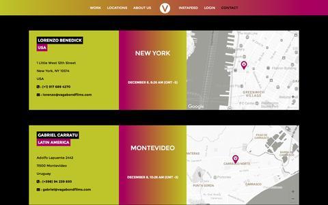 Screenshot of Contact Page vagabondfilms.com - Contact us - Vagabond Production Services - captured Dec. 8, 2016