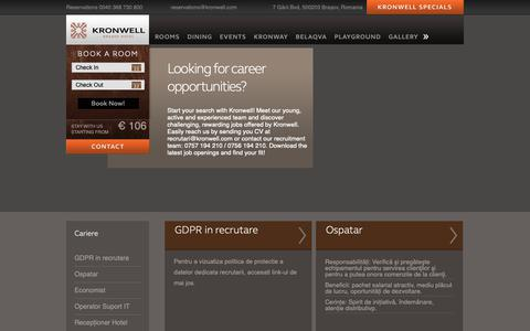 Screenshot of Jobs Page kronwell.com - Careers | Kronwell - captured Nov. 15, 2018