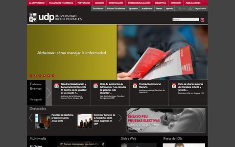 Screenshot of Home Page udp.cl - Universidad Diego Portales - captured Sept. 25, 2014