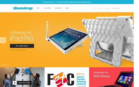 Screenshot of Home Page gumdropcases.com - Rugged and reliable device protection solutions                         – Gumdropcases.com - captured Jan. 14, 2016