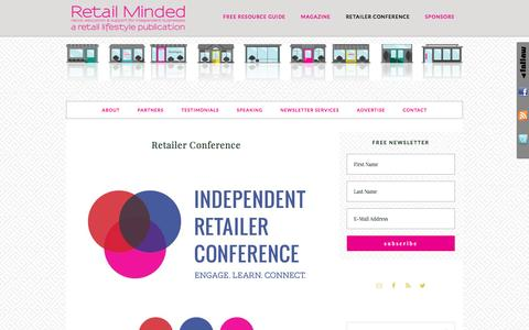 Screenshot of retailminded.com - Retailer Conference - captured March 29, 2017