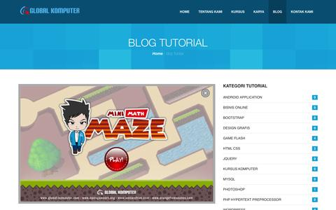 Screenshot of Blog global-komputer.com - Global Komputer - Kursus Website dan Bisnis Online di Lampung - captured March 14, 2016
