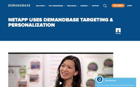 Screenshot of Case Studies Page demandbase.com - Kim Mai from NetApp on Demandbase Targeting - captured Nov. 6, 2019