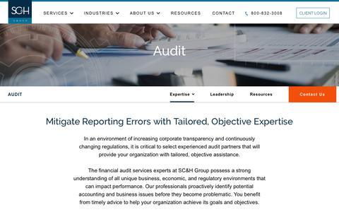 Audit Services - Financial Statements, Employee Benefit Plans & SOC | SC&H Group