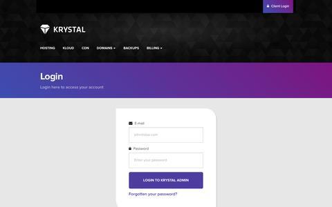 Screenshot of Support Page krystal.co.uk - Support Tickets - Krystal Admin - captured April 9, 2017