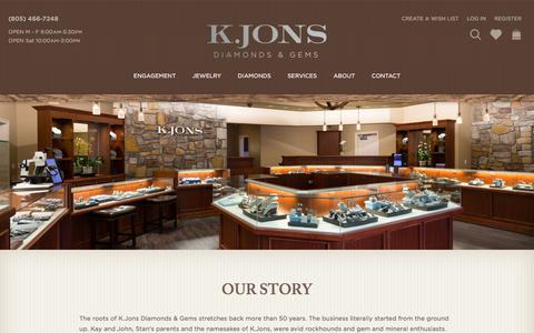 Screenshot of About Page kjons.com - About K.Jons Diamonds & Gems   Our Jewelry Store   Atascadero, CA - captured Sept. 19, 2017