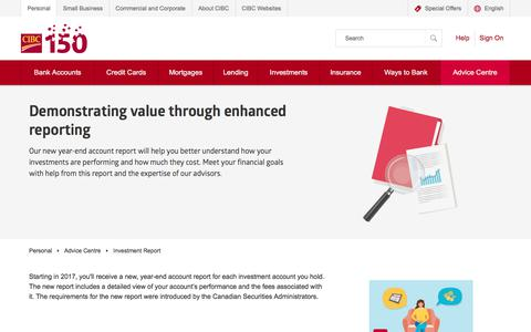 Investment Report | Advice Centre | CIBC