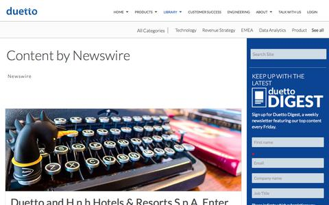 Screenshot of Case Studies Page duettocloud.com - Revenue Strategy Blogs | Hotel Industry News - Duetto Blog | Newswire - captured Jan. 6, 2020