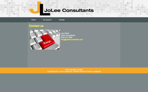Screenshot of Contact Page joleeconsultants.com - JoLee Consultants - Contact Us - captured June 8, 2017