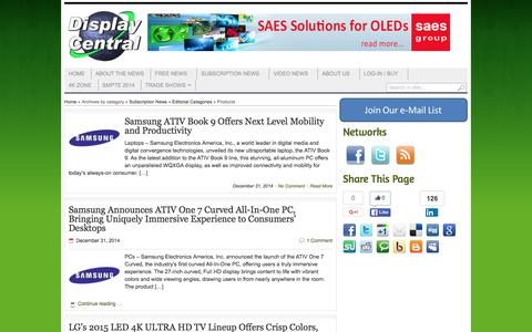 Screenshot of Products Page display-central.com - Products Archives - Display Central - captured Jan. 8, 2016