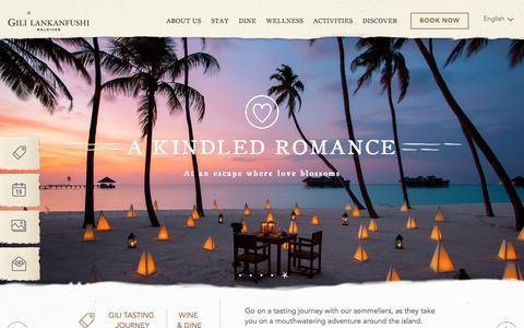 Screenshot of Home Page gili-lankanfushi.com - Gili Lankanfushi Maldives | Maldives' Best Luxury Resort - captured Sept. 25, 2018