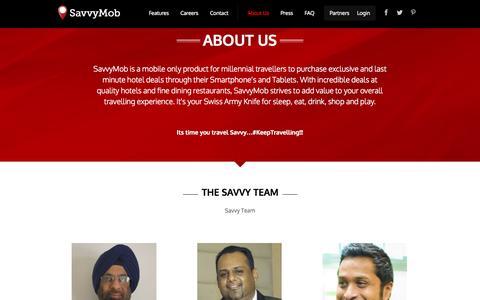 Screenshot of About Page savvymob.com - About Us   SavvyMob - captured Sept. 22, 2014