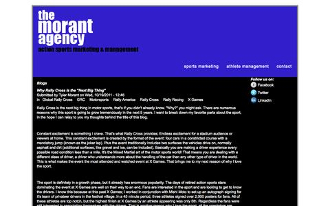 Screenshot of Blog themorantagency.com - Blogs | www.themorantagency.com - captured Oct. 9, 2014