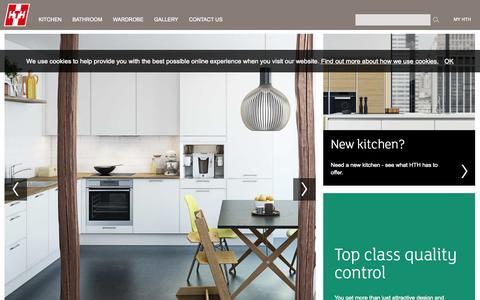 Screenshot of Home Page hth-kitchen.com - Start - captured Jan. 23, 2015