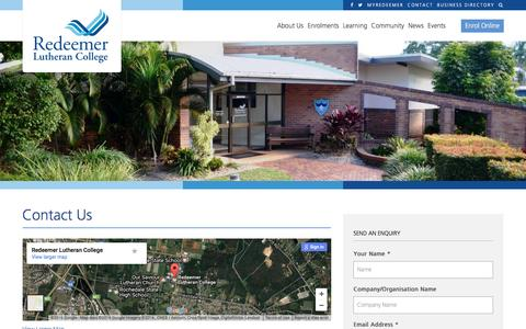 Screenshot of Contact Page redeemer.com.au - Contact Us | Redeemer Lutheran College - captured Dec. 13, 2016