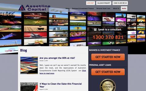 Screenshot of Blog assetline.com.au - Blog   Assetline Capital - captured Nov. 4, 2014