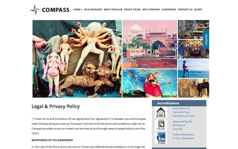 Screenshot of Privacy Page compassindiainc.com - Luxury Tours India-Private Family Group Tours-Compass Tours - captured Aug. 19, 2017