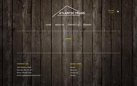 Screenshot of Press Page atlantictruss.com - News – Atlantic Truss - captured Aug. 2, 2015