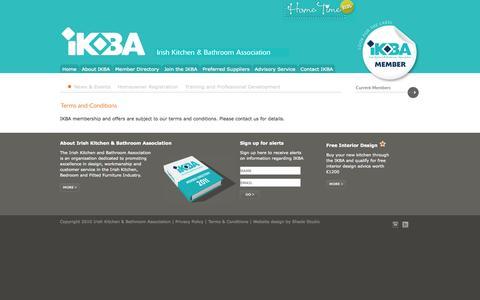 Screenshot of Terms Page ikba.ie - IKBA - Irish Kitchen and Bathroom Association - captured Oct. 6, 2014