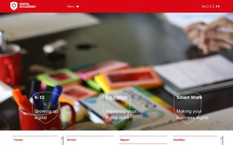 Screenshot of Home Page digitalaccademia.com - Digital Accademia | Digital Accademia site - captured July 11, 2014