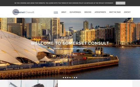 Screenshot of Home Page somersetconsult.com - Somerset Consult - Welcome - captured Sept. 21, 2018