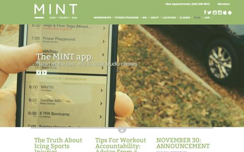 Screenshot of Blog mintdc.com - Fitness Blog | MINT DC | MINT DC - captured Dec. 2, 2015