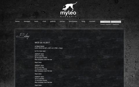 Screenshot of Blog Press Page myleo.de - Blog - captured Oct. 31, 2017