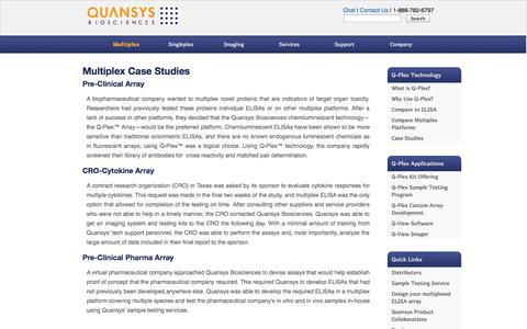 Screenshot of Case Studies Page quansysbio.com - Multiplex Case Studies   Quansys Biosciences - captured Oct. 2, 2014