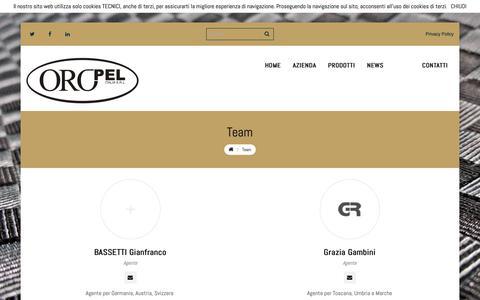 Screenshot of Team Page oropelitalia.it - Team | OROPEL Italia S.r.l. - captured Oct. 20, 2018
