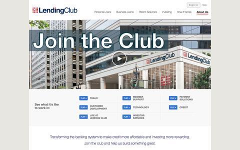 Screenshot of Jobs Page lendingclub.com - Careers - Lending Club - captured Jan. 14, 2016