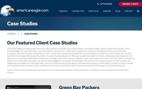 Screenshot of Case Studies Page americaneagle.com - Website Design Case Studies | Americaneagle.com - captured March 1, 2018