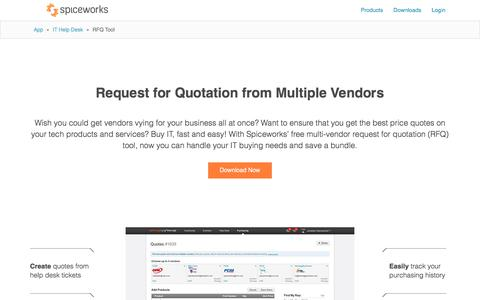 Free RFQ Tool from Spiceworks, IT Buying with Free Quotes